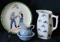 combo blue pottery